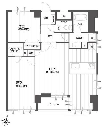 募集中 501号室(2LDK/59.80㎡)5,780万円
