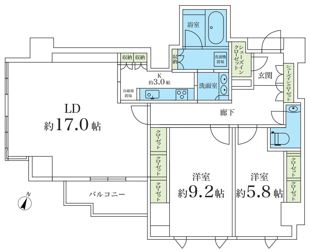募集中 705号室(2LDK/91.77㎡)18,000万円