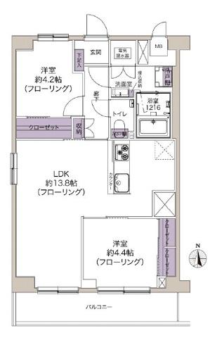 募集中 710号室(2LDK/53.55㎡)4,700万円【PRICE DOWN】