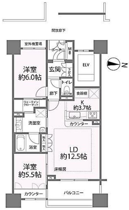 募集中 321号室(2LDK/62.30㎡)4,980万円