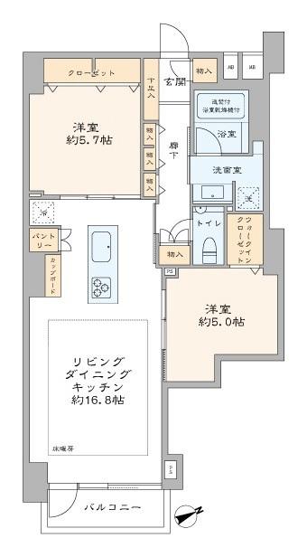 募集中 302号室(2LDK/66.23㎡)8,680万円