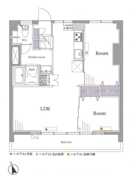 募集中 707号室(2LDK/49.00㎡)3,499万円【PRICE DOWN】