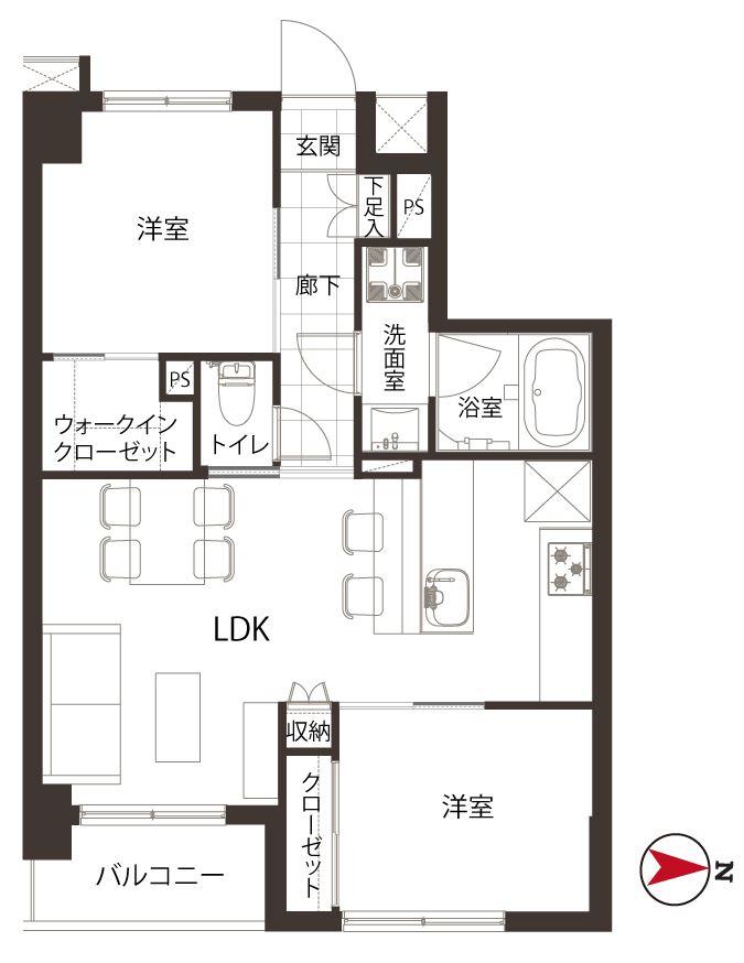募集中 302号室(2LDK/51.78㎡)6,780万円