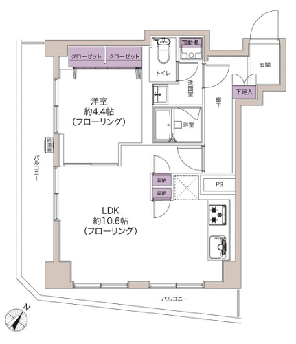 募集中 605号室(1LDK/41.53㎡)3,680万円