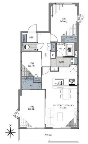 募集中 403号室(3LDK/61.50㎡)5,299万円