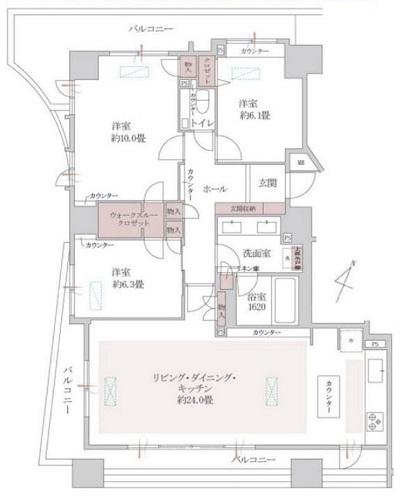 募集中 1110号室(3LDK/103.55㎡)11,800万円【PRICE DOWN】