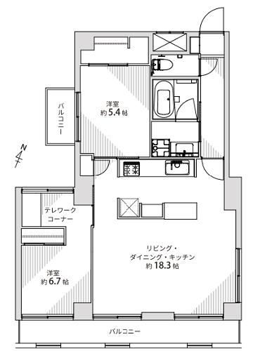 募集中 212号室(2LDK/63.30㎡)5,499万円【PRICE DOWN】