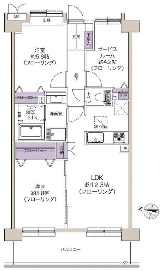 募集中 102号室(2SLDK/63.00㎡)6,480万円