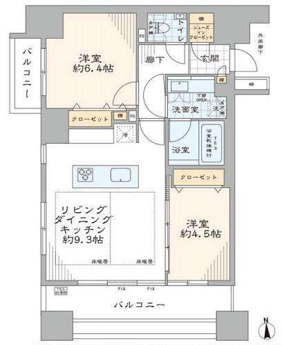 募集中 1003号室(2LDK/56.11㎡)13,480万円