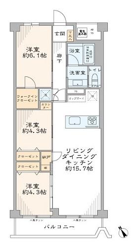 募集中 1402号室(3LDK/70.00㎡)6,980万円