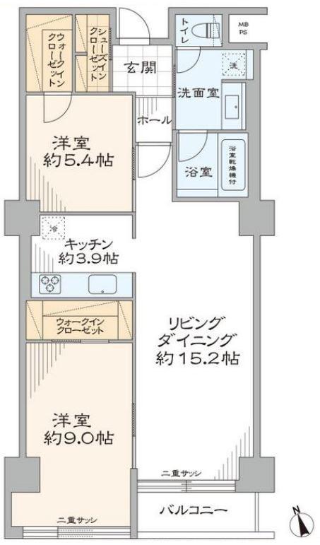 募集中 302号室(2LDK/75.83㎡)8,980万円