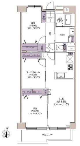 募集中 301号室(2SLDK/77.64㎡)4,480万円