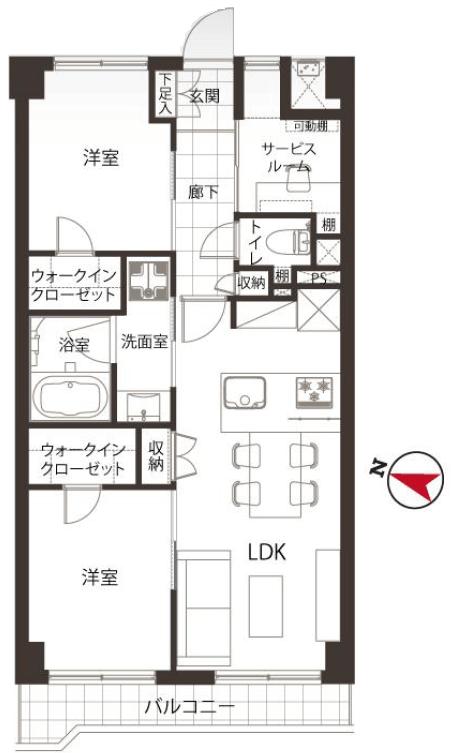 募集中 312号室(2SLDK/54.54㎡)5,480万円