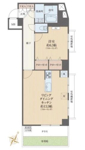 募集中 1F(1LDK/54.39㎡)3,480万円