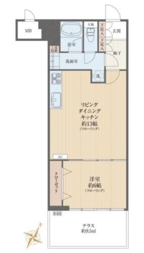 募集中 1F(1LDK/47.25㎡)2,980万円