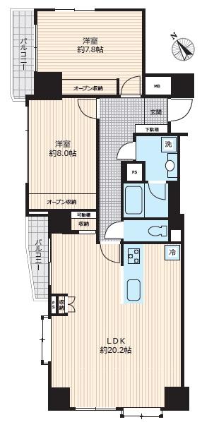 募集中 401号室(2LDK/73.40㎡)9,998万円