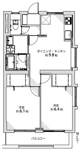 募集中 301号室(2DK/51.11㎡)2,490万円