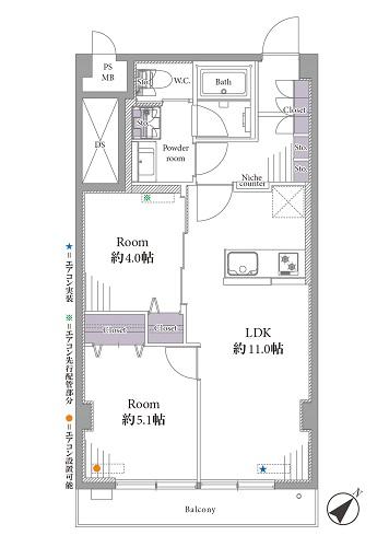 募集中 706号室(2LDK/52.38㎡)4,499万円
