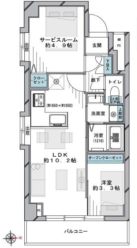 募集中 501号室(1SLDK/41.26㎡)4,588万円