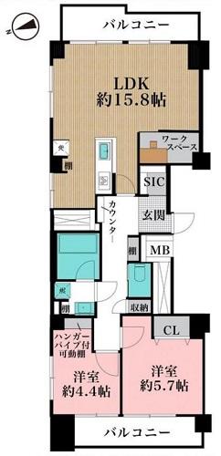 募集中 1201号室(2LDK/66.96㎡)5,980万円