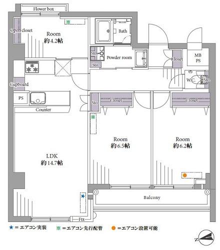 募集中 302号室(3LDK/70.12㎡)4,999万円